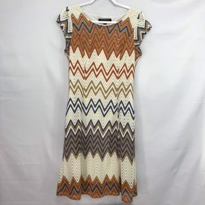 Sharagano Chevron Dress Size 6